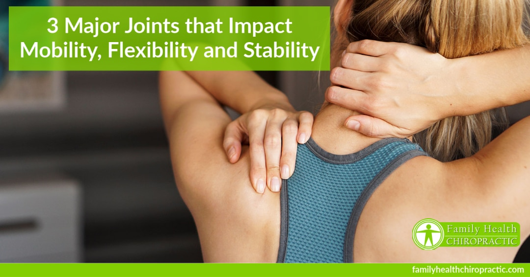 3 major joints that impact mobility flexibility and stability