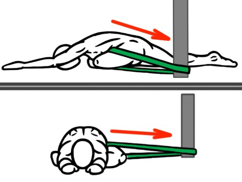 Joint-Distraction-Pigeon-Stretch-Front-and-Side-View-for-Hip-Flexion-Hip-Abduction-and-External-Rotation-e1430889352290