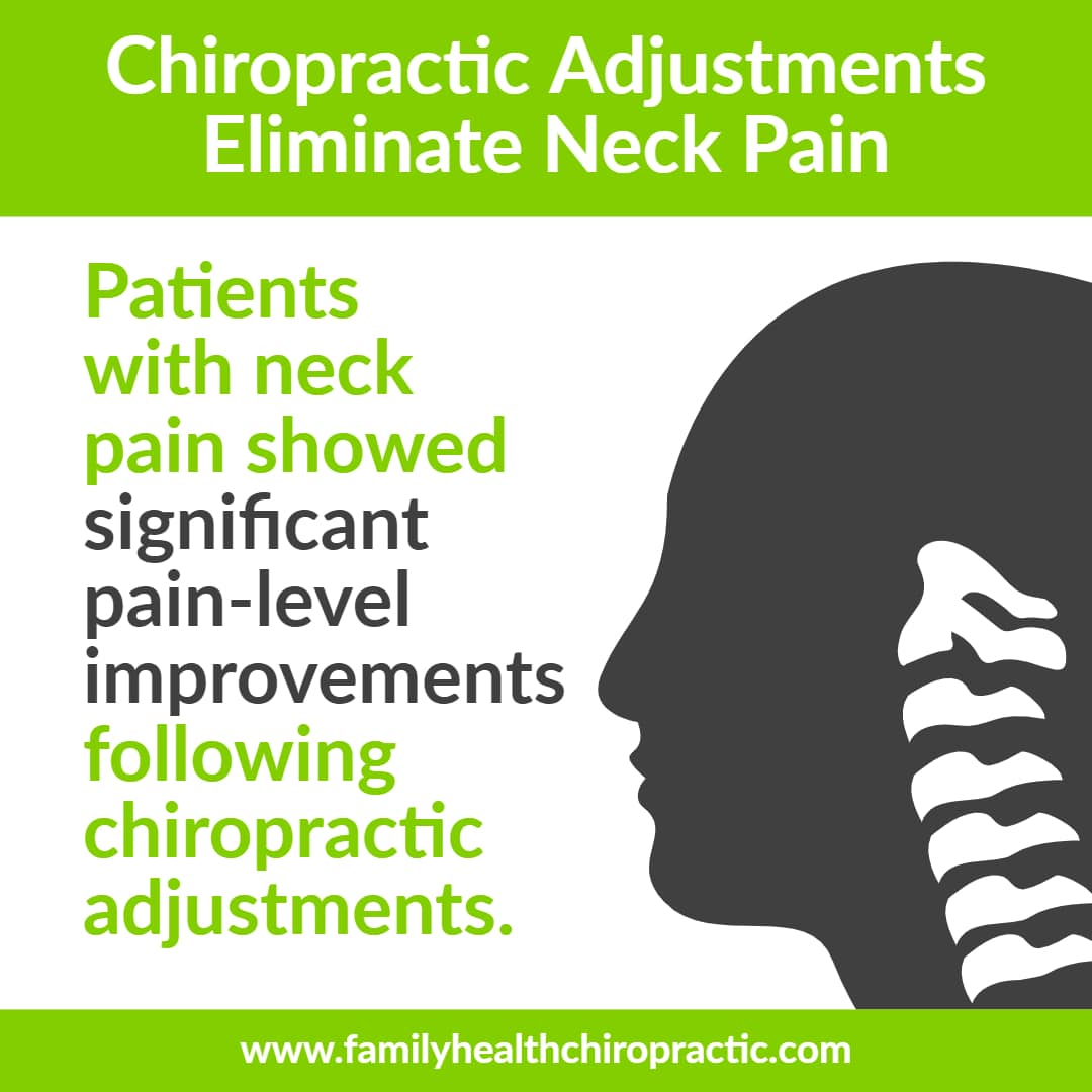 chiropractic adjustment benefits include eliminating neck pain