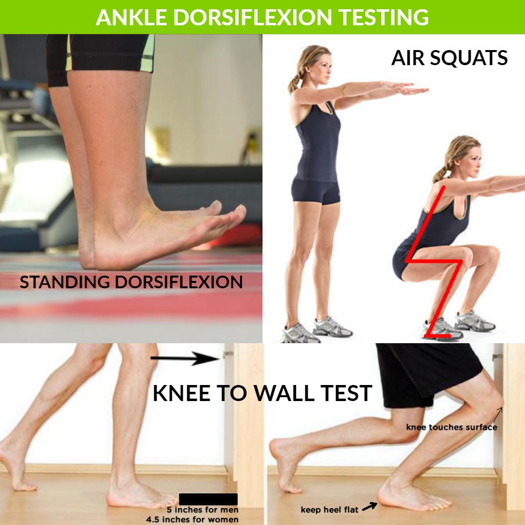 ankle dorsiflexion testing
