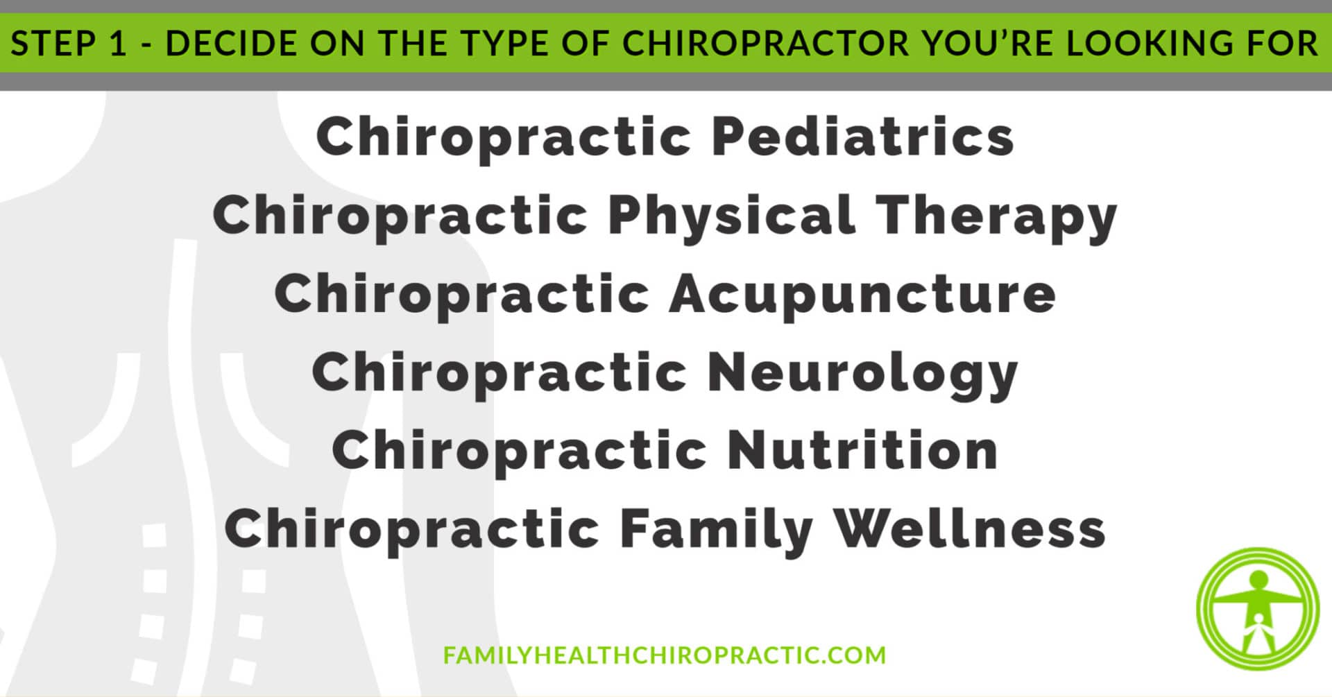 what type of chiropractic are you looking for